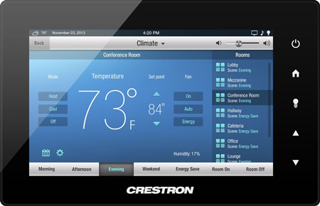 touchpad crestron device
